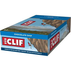 CLIF Bar Caja Barritas Energéticas 12x68g, Chocolate Chip